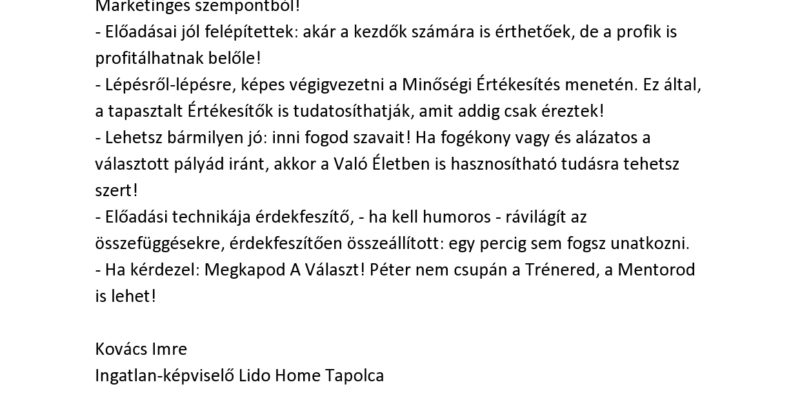 Kovacs Imre refer